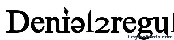 Denial2regularbold Font