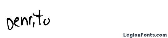 Шрифт Denrito, Шрифты для надписей