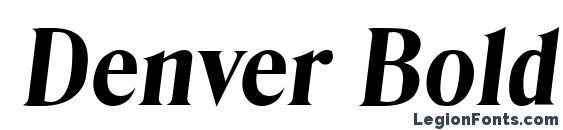 Шрифт Denver Bold Italic