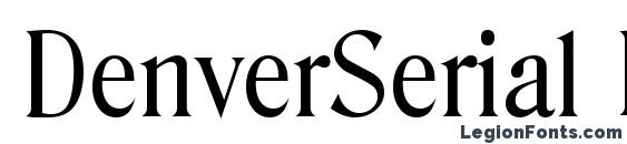 шрифт DenverSerial Regular, бесплатный шрифт DenverSerial Regular, предварительный просмотр шрифта DenverSerial Regular