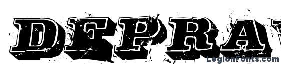 Depraved font, free Depraved font, preview Depraved font