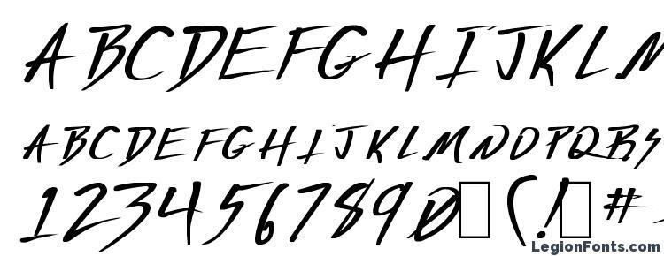 глифы шрифта Deranged 1, символы шрифта Deranged 1, символьная карта шрифта Deranged 1, предварительный просмотр шрифта Deranged 1, алфавит шрифта Deranged 1, шрифт Deranged 1