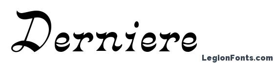 Derniere Font, Tattoo Fonts