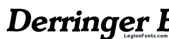 Derringer Bold Italic Font