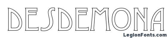 Шрифт Desdemona