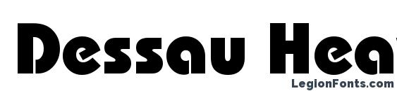 Dessau Heavy Regular Font