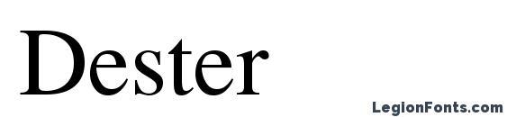 Шрифт Dester