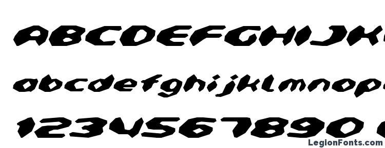 glyphs Detonator Italic font, сharacters Detonator Italic font, symbols Detonator Italic font, character map Detonator Italic font, preview Detonator Italic font, abc Detonator Italic font, Detonator Italic font