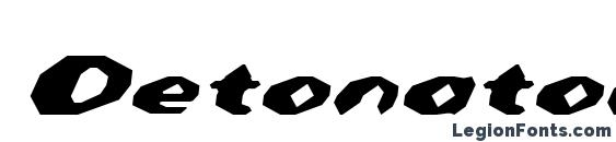 Шрифт Detonator Italic