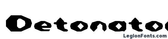 Detonator font, free Detonator font, preview Detonator font