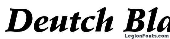 Deutch Black SSi Black Italic font, free Deutch Black SSi Black Italic font, preview Deutch Black SSi Black Italic font