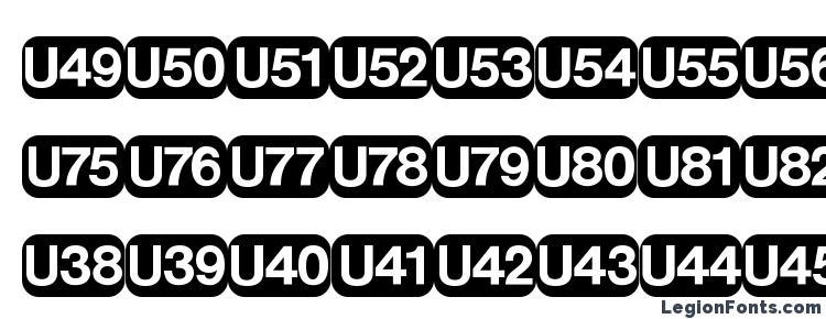 glyphs DeutscheBahnAG Five font, сharacters DeutscheBahnAG Five font, symbols DeutscheBahnAG Five font, character map DeutscheBahnAG Five font, preview DeutscheBahnAG Five font, abc DeutscheBahnAG Five font, DeutscheBahnAG Five font