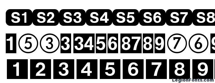 глифы шрифта DeutscheBahnAG One, символы шрифта DeutscheBahnAG One, символьная карта шрифта DeutscheBahnAG One, предварительный просмотр шрифта DeutscheBahnAG One, алфавит шрифта DeutscheBahnAG One, шрифт DeutscheBahnAG One