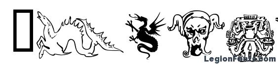Devils and dragons font, free Devils and dragons font, preview Devils and dragons font