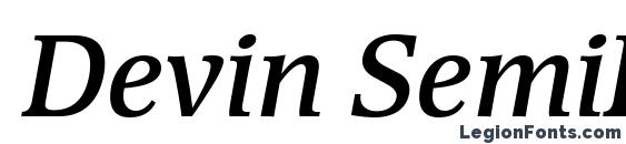 Devin SemiBold Italic Font