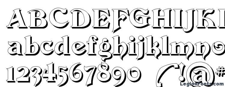 глифы шрифта Devinne Swash Shadow, символы шрифта Devinne Swash Shadow, символьная карта шрифта Devinne Swash Shadow, предварительный просмотр шрифта Devinne Swash Shadow, алфавит шрифта Devinne Swash Shadow, шрифт Devinne Swash Shadow