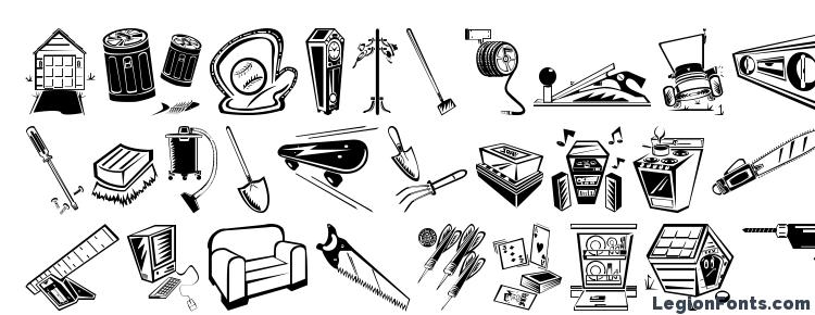 glyphs Df Home Improvement ITCTT font, сharacters Df Home Improvement ITCTT font, symbols Df Home Improvement ITCTT font, character map Df Home Improvement ITCTT font, preview Df Home Improvement ITCTT font, abc Df Home Improvement ITCTT font, Df Home Improvement ITCTT font