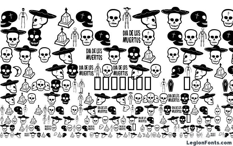 образцы шрифта Dia de los muertos bv, образец шрифта Dia de los muertos bv, пример написания шрифта Dia de los muertos bv, просмотр шрифта Dia de los muertos bv, предосмотр шрифта Dia de los muertos bv, шрифт Dia de los muertos bv