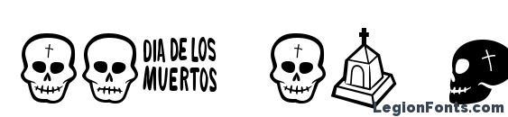 Шрифт Dia de los muertos bv