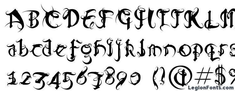 глифы шрифта DiabloRegular, символы шрифта DiabloRegular, символьная карта шрифта DiabloRegular, предварительный просмотр шрифта DiabloRegular, алфавит шрифта DiabloRegular, шрифт DiabloRegular