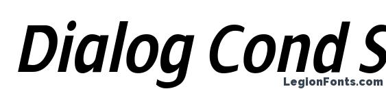Dialog Cond SemiBold Italic Font, Calligraphy Fonts
