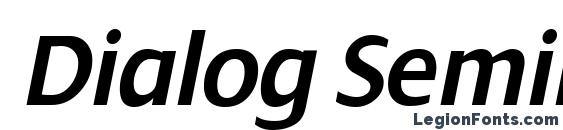 Dialog SemiBold Italic Font