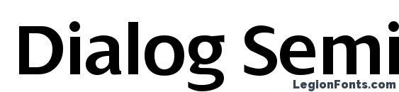 Dialog SemiBold Font