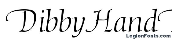 Шрифт DibbyHandDB Normal