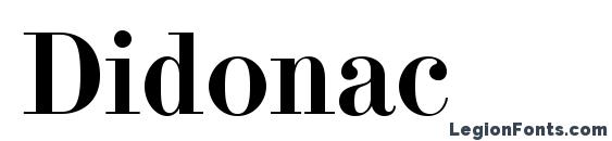 Didonac Font