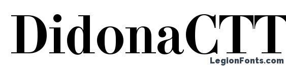 шрифт DidonaCTT, бесплатный шрифт DidonaCTT, предварительный просмотр шрифта DidonaCTT