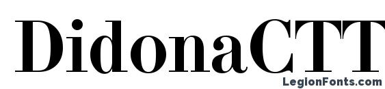 Шрифт DidonaCTT