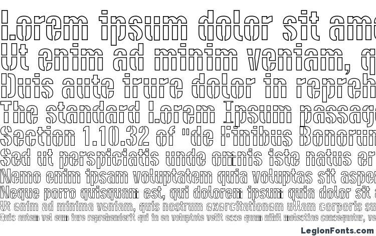 specimens DieselStencil Outline font, sample DieselStencil Outline font, an example of writing DieselStencil Outline font, review DieselStencil Outline font, preview DieselStencil Outline font, DieselStencil Outline font