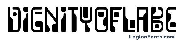 DignityOfLabour Regular font, free DignityOfLabour Regular font, preview DignityOfLabour Regular font