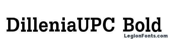 шрифт DilleniaUPC Bold, бесплатный шрифт DilleniaUPC Bold, предварительный просмотр шрифта DilleniaUPC Bold