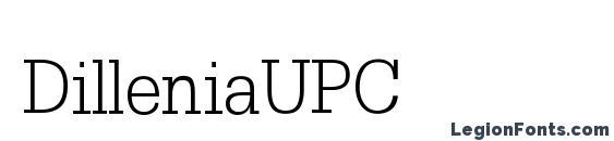 Шрифт DilleniaUPC