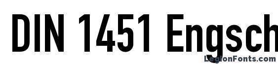 Шрифт DIN 1451 Engschrift LT