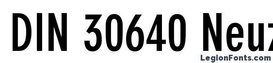 DIN 30640 Neuzeit Grotesk LT Bold Condensed Font
