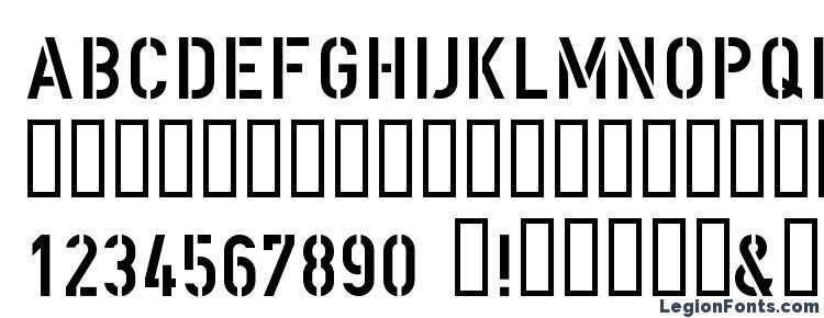 глифы шрифта DIN Schablonierschrift, символы шрифта DIN Schablonierschrift, символьная карта шрифта DIN Schablonierschrift, предварительный просмотр шрифта DIN Schablonierschrift, алфавит шрифта DIN Schablonierschrift, шрифт DIN Schablonierschrift