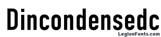 Шрифт Dincondensedc