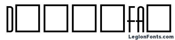 DinerFat Font
