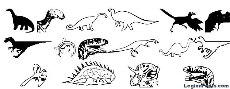 glyphs DinosoType font, сharacters DinosoType font, symbols DinosoType font, character map DinosoType font, preview DinosoType font, abc DinosoType font, DinosoType font