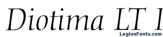 Diotima LT Italic Font