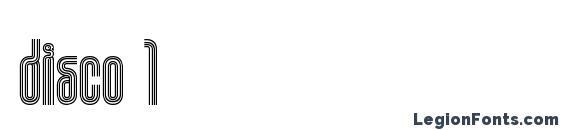 шрифт Disco 1, бесплатный шрифт Disco 1, предварительный просмотр шрифта Disco 1