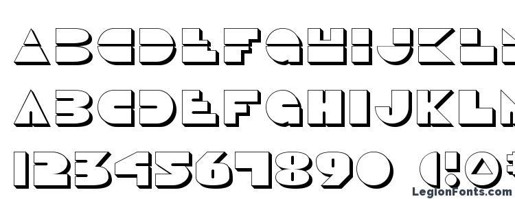glyphs Disco Duck 3D font, сharacters Disco Duck 3D font, symbols Disco Duck 3D font, character map Disco Duck 3D font, preview Disco Duck 3D font, abc Disco Duck 3D font, Disco Duck 3D font