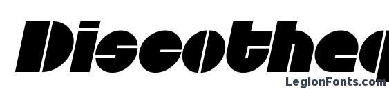 Шрифт Discotheque Italic
