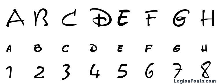 glyphs DisneyPark font, сharacters DisneyPark font, symbols DisneyPark font, character map DisneyPark font, preview DisneyPark font, abc DisneyPark font, DisneyPark font