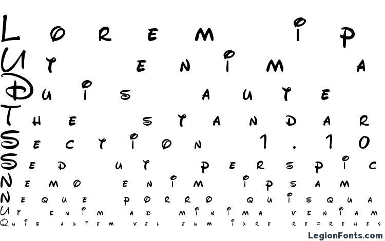 specimens DisneyPark font, sample DisneyPark font, an example of writing DisneyPark font, review DisneyPark font, preview DisneyPark font, DisneyPark font