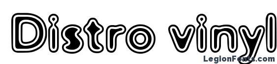Шрифт Distro vinyl