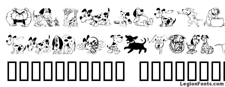 glyphs Doggon font, сharacters Doggon font, symbols Doggon font, character map Doggon font, preview Doggon font, abc Doggon font, Doggon font