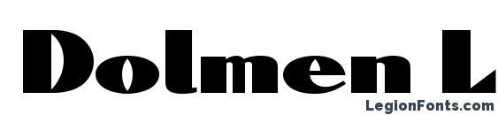 Шрифт Dolmen LET Plain.1.0
